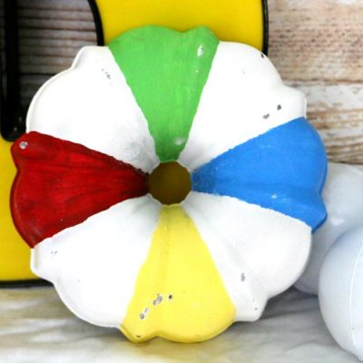 Beach Ball Bundt Pan Wreath