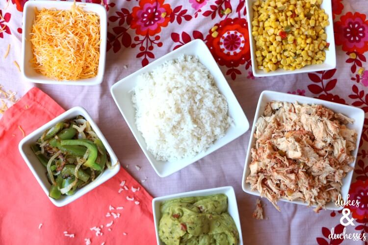 chicken burrito bowls recipe