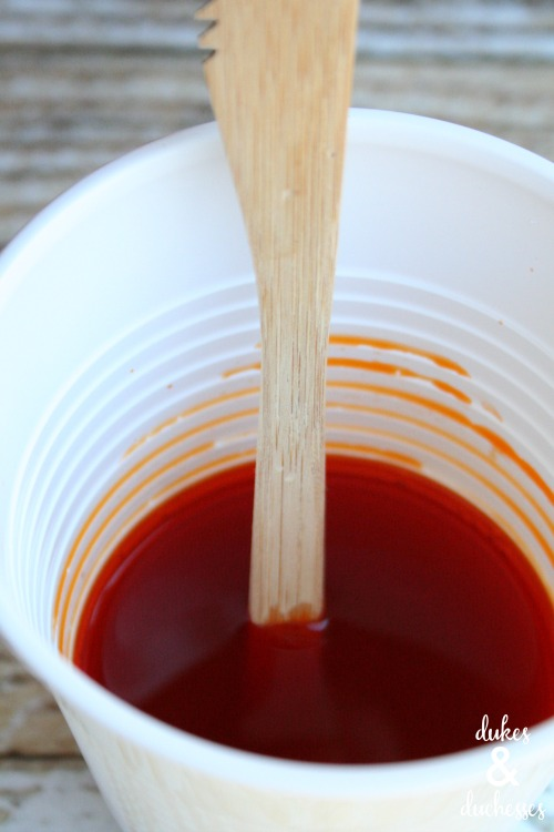 dip dyed wooden utensils