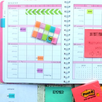 Printable Post It Notes and Tabs for a Planner