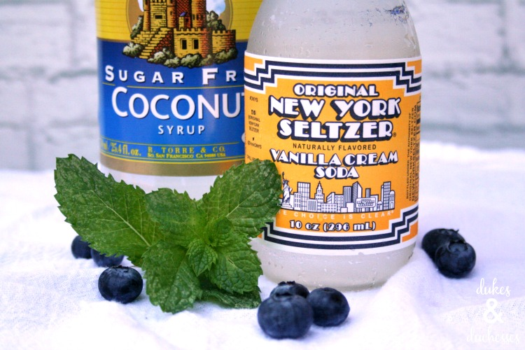 coconut mint spritzer recipe