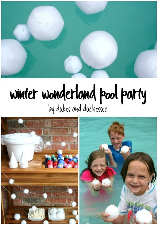 winter wonderland pool party