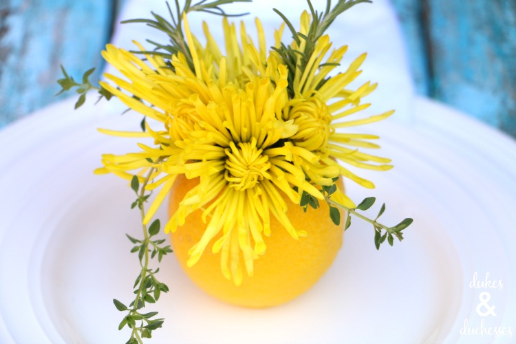 how to make a lemon vase