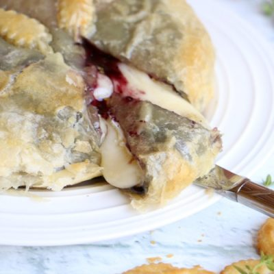 Blueberry Thyme Baked Brie
