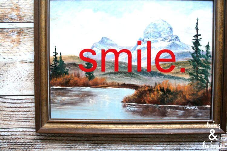 upcycled repurposed vintage painting