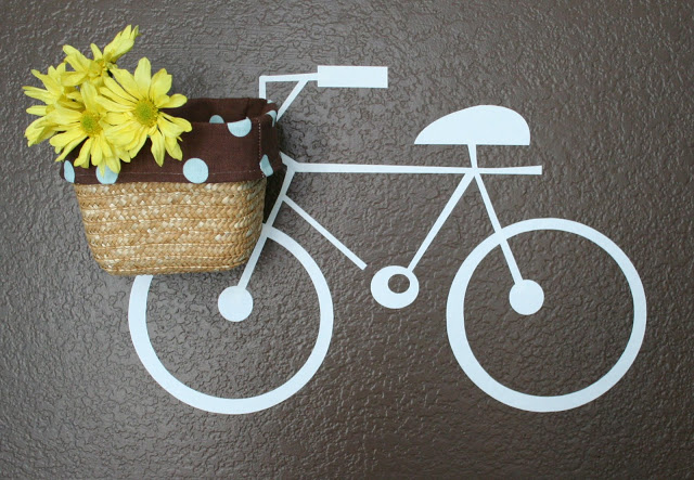 vinyl bike on wall