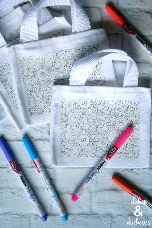 color your own tote bags