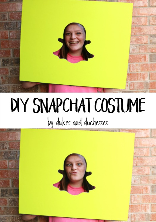 diy snapchat costume dukes and duchesses. Black Bedroom Furniture Sets. Home Design Ideas