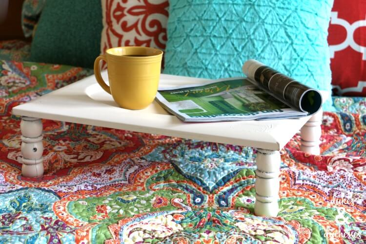 DIY upcycled bed tray