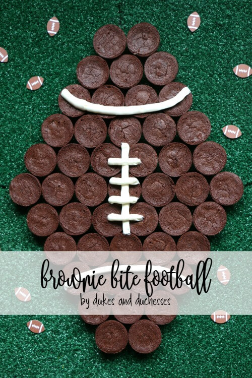 brownie bite football for game day