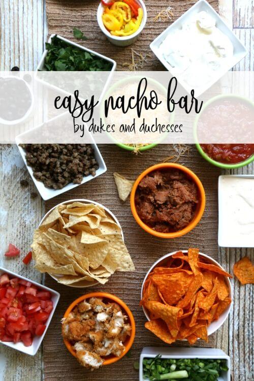 easy nacho bar