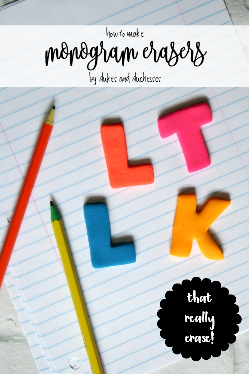 how to make monogram erasers with eraser clay