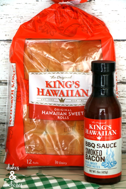 kings hawaiian rolls and bbq sauce