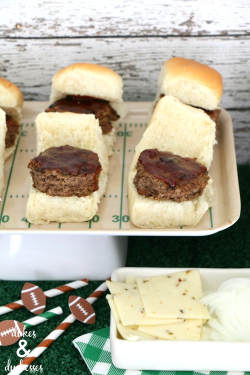 meatloaf sliders for at home tailgating party