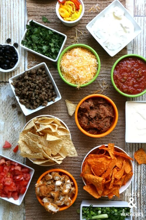 nacho bar for game day