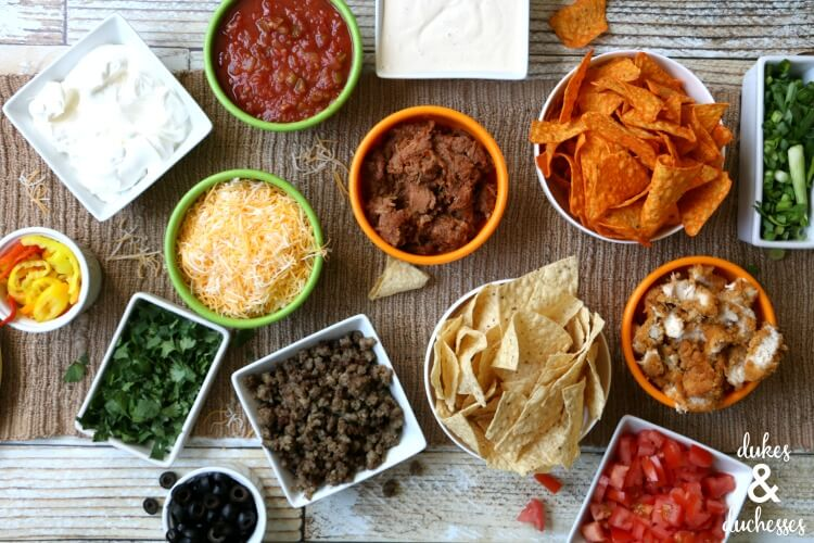 nacho bar tabletop tailgate