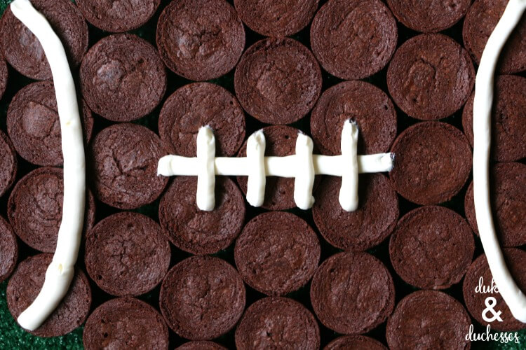 football shaped brownie bite