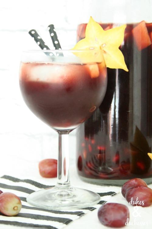 pomegranate red wine sangria recipe