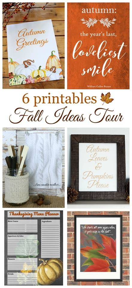 fall ideas tour printables