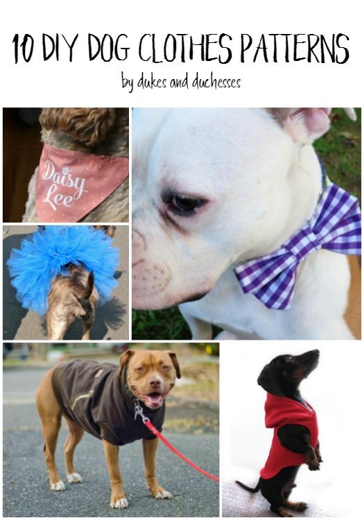 10 DIY dog clothes patterns
