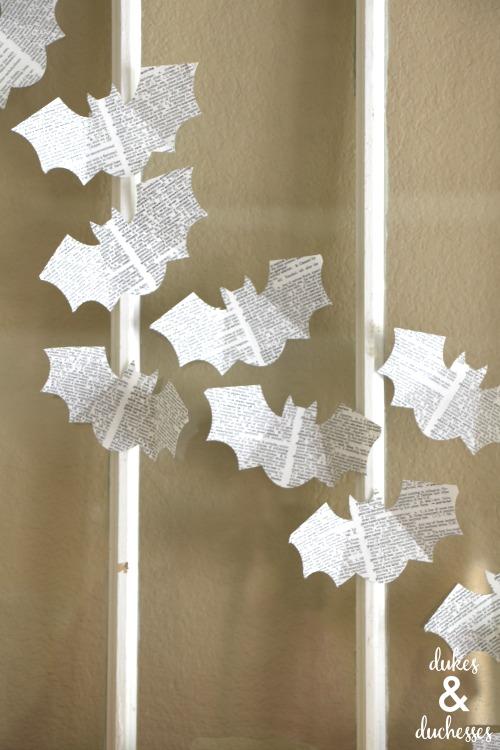 DIY book page bats