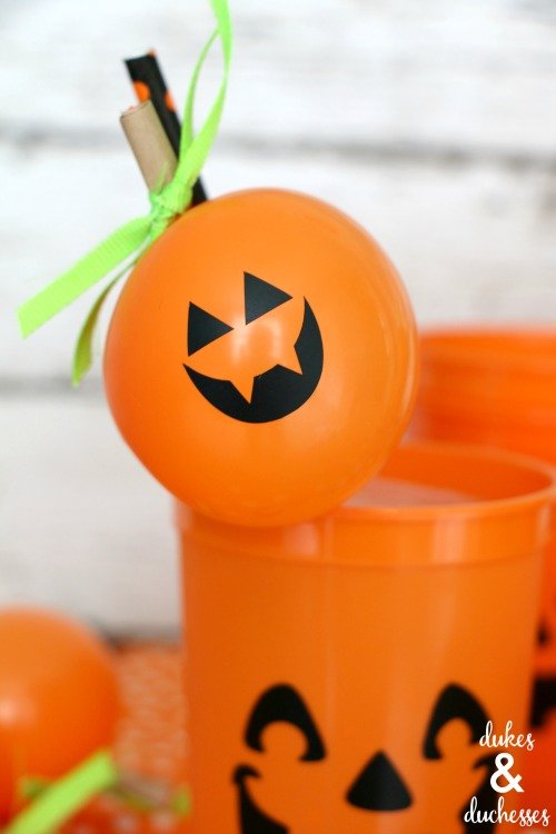balloon straw topper for halloween