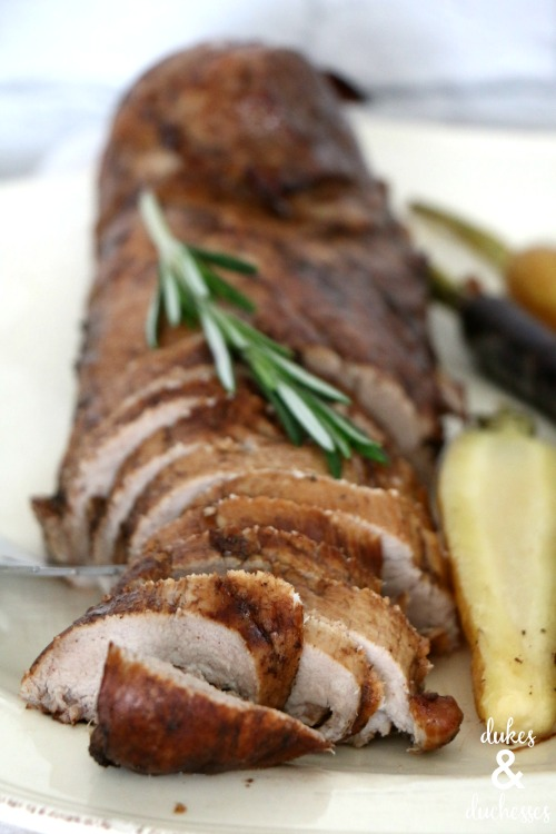 balsamic rosemary roasted pork tenderloin