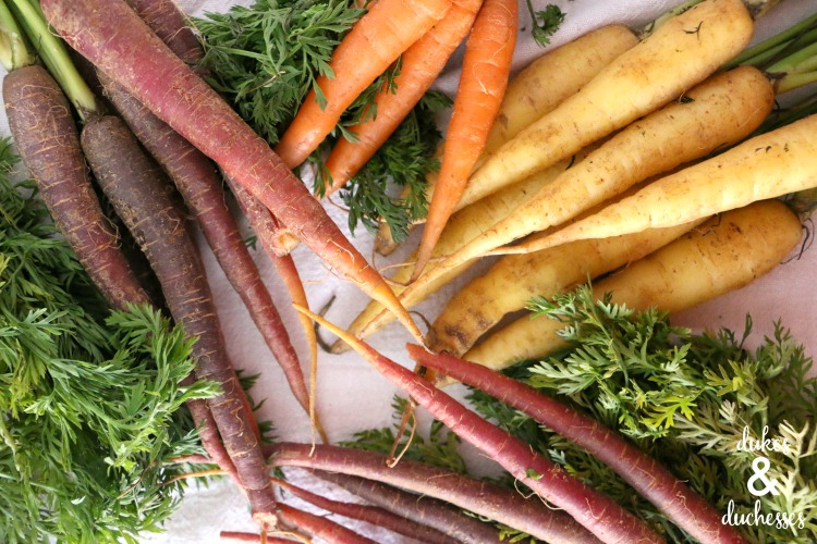colorful carrots for roasting