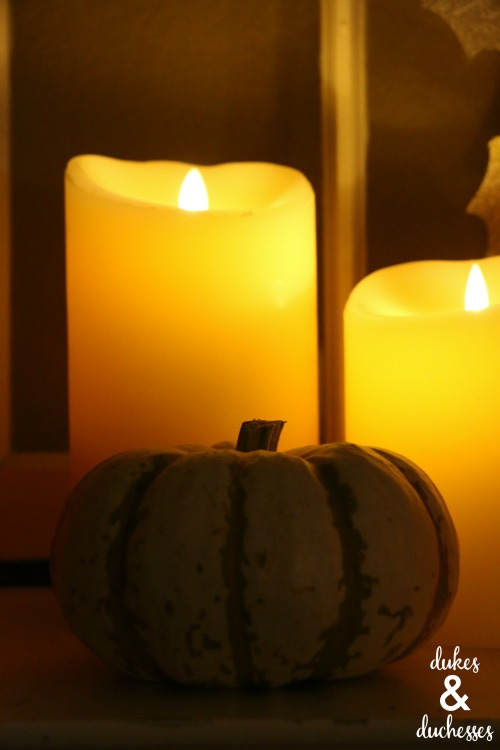 flameless candles in halloween decor
