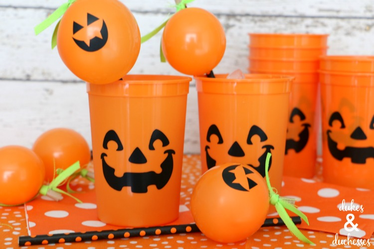 Halloween Balloon Straw Toppers