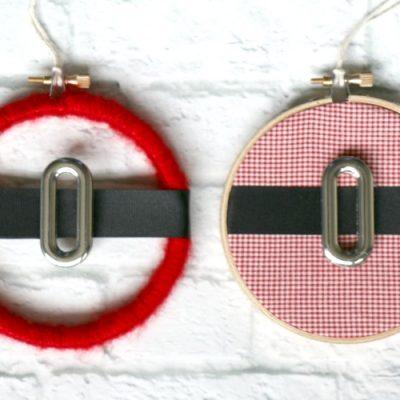 Embroidery Hoop Santa Christmas Ornaments
