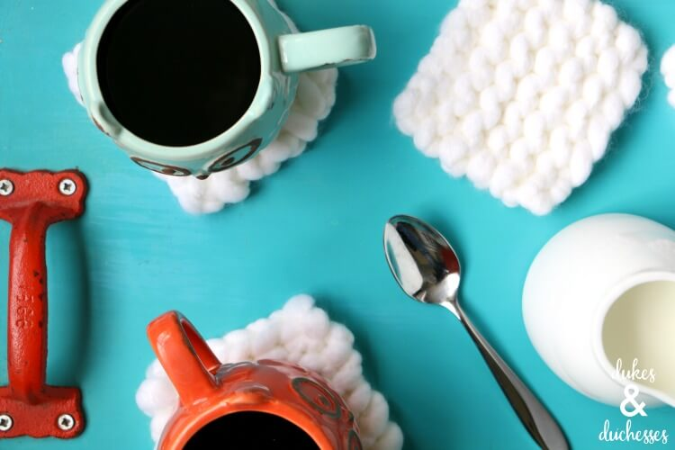 how to knit coasters
