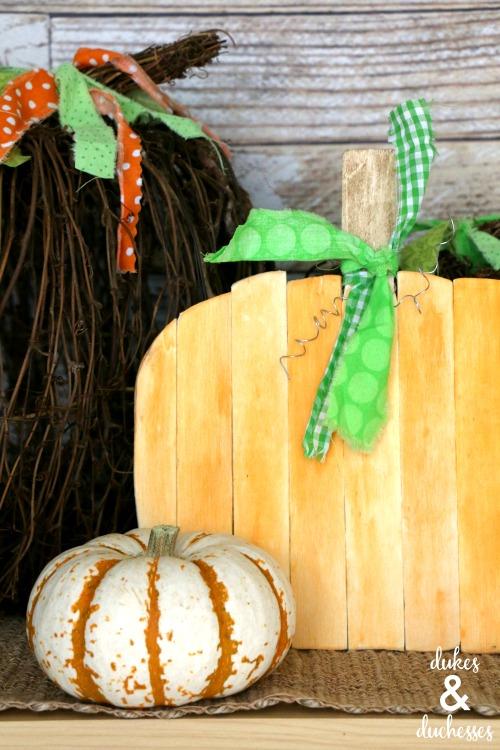 repuruposed paint stick pumpkin