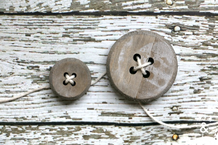 how to string a button garland