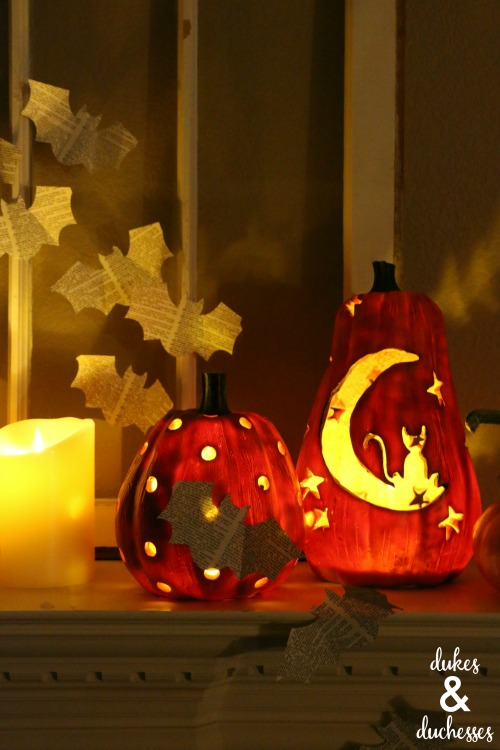 lighted halloween decor