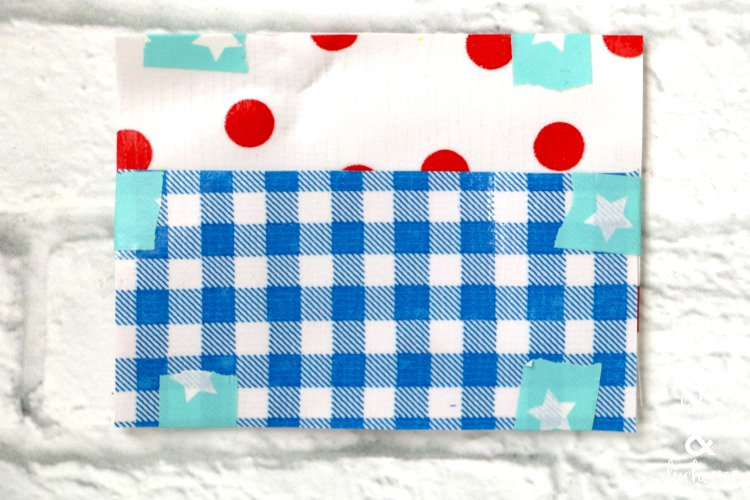 washi tape to hold oilcloth pattern pieces