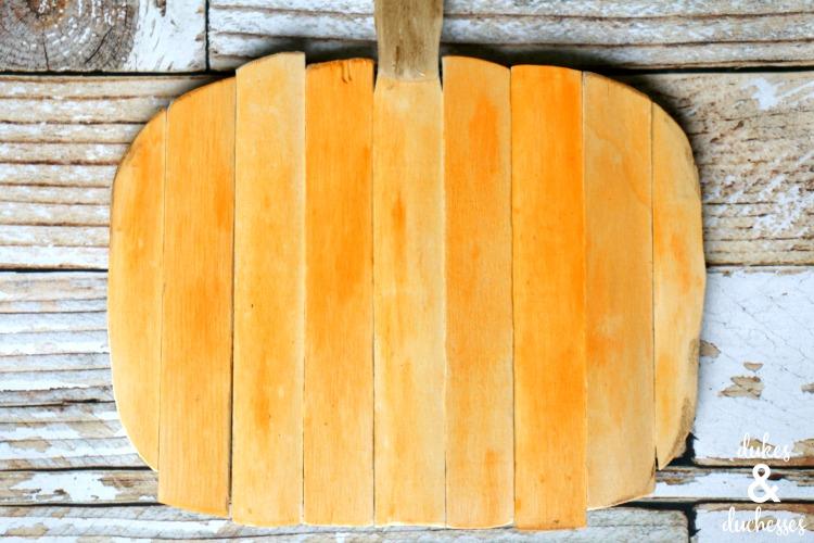 Pumpkin Orange Paint paint stick pumpkin - dukes and duchesses
