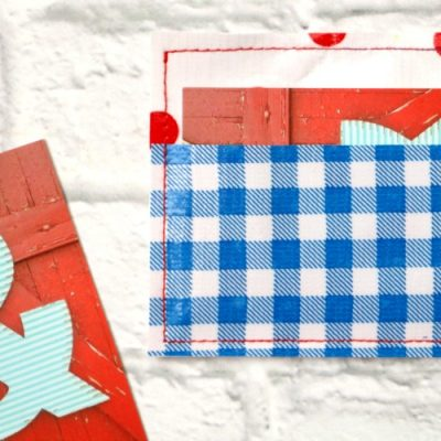 Oilcloth Business Card Holder