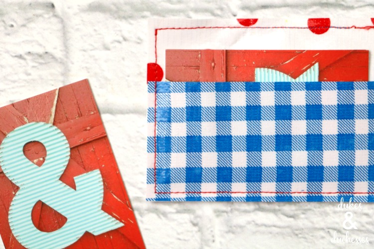 patterned oilcloth business card holder