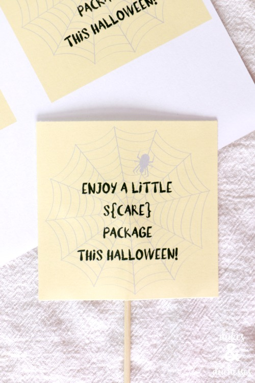 printable scare package label