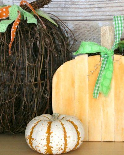 Paint Stick Pumpkin