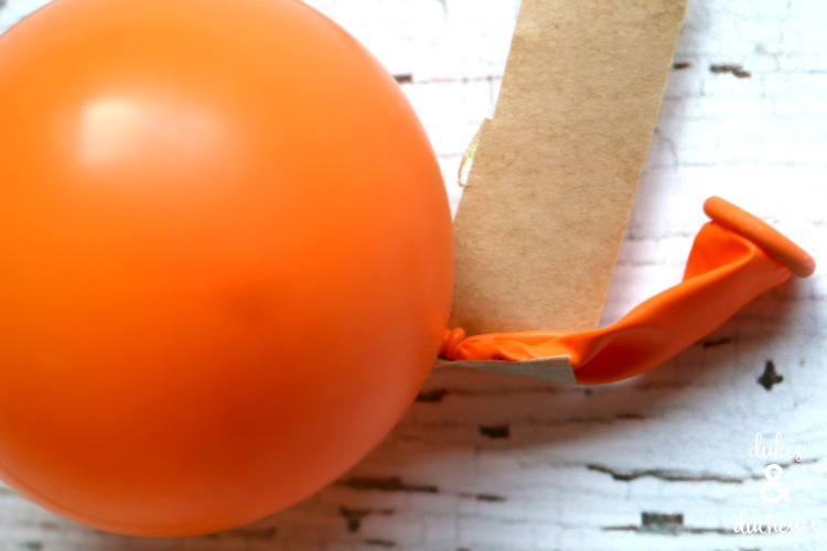 stem on balloon pumpkin