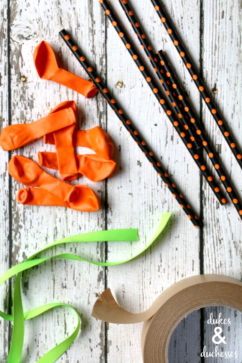 supplies for pumpkin straw toppers