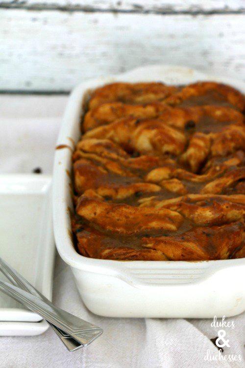warm coffee chocolate chip pull apart bread recipe with coffee glaze