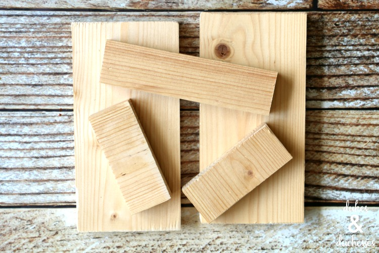 wood pieces for DIY wood box