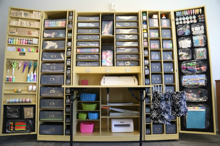7 Craft Storage Solutions on craft organizer furniture