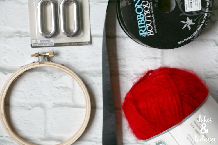 yarn santa ornament supplies