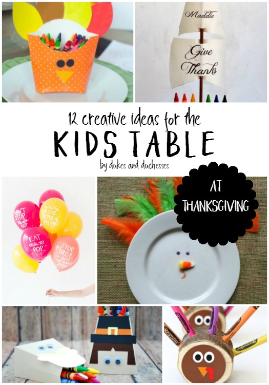 12 creative ideas for the kids table at thanksgiving