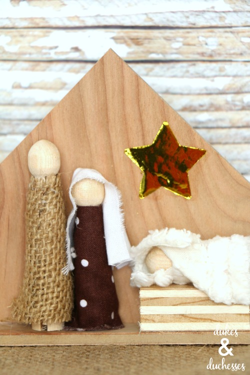 DIY wood nativity set