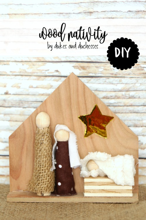 DIY wood nativity